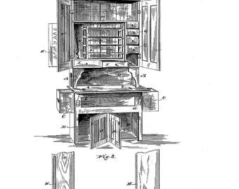 Kitchen Cabinet patent #334260 dated  January 12, 1886.