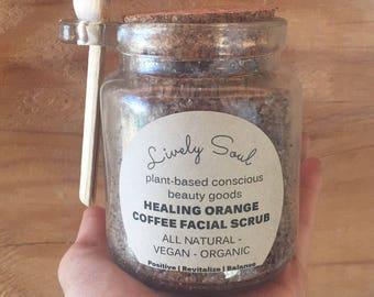 Orange Coffee Facial Scrub