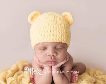 Newborn Hat, Newborn Boy Hat, Newborn Bear Hat, Baby Hat, Baby Girl Hat, Baby Bear Hat, Baby Boy Hat, Photographer Gift, Baby Shower Gift
