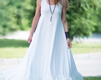 15% SUMMER SALE Summer Dress, White Dress for Women, Cotton Dress, Women Dresses, Women Long Dress, Summer White Dress, Party Dress, Prom dr