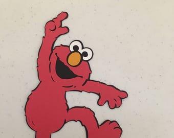 Elmo die cut from Sesame Street