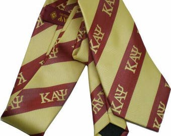 Kappa Alpha Psi - Crimson & Cream Necktie