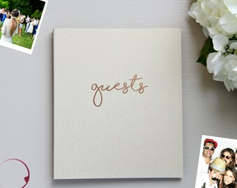 Fast Shipping > Photo Guest Book Rustic Wedding, Beach Wedding, Embossed Rose Gold Wedding Decor.Wedding Guest Book Instax Guestbook Wedding