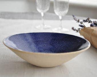 New Blue Serving Bowl, Bowl, Pottery bOWL