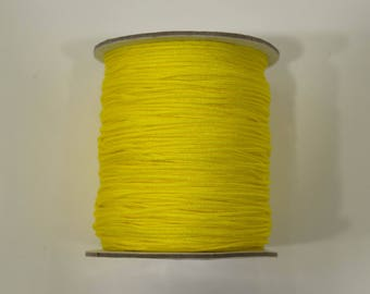 10 m Nylon yellow wire 1.5 mm for bracelet, Shamballa, pacifier, jewelry... 1.5 mm