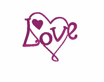 Love Inside Heart Embroidery Designs,Valentines Embroidery Designs,Embroidery Files,Embroidery of Hearts,Embroidery for Valentines
