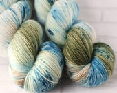 Ohope Beach - MCN Sock Yarn - Hand Dyed Speckled Yarn - Merino Cashmere Yarn -Fingering Hand Dyed Yarn -MCN Sock Yarn - Variegated 4ply Yarn