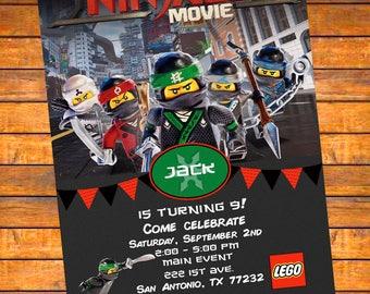 LEGO Ninjago Film Personalisierte Einladung   Digitaler Download Oder  Gedruckt W Umschläge