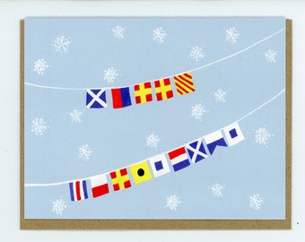 "Signal Flag Secret Message - ""Merry Christmas"""
