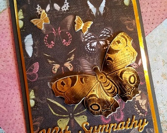 With Sympathy in Butterflies Card