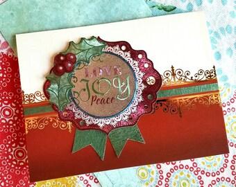 Love, Joy, Peace Medallion Card