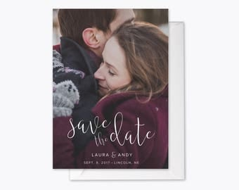 Lovely Love Photo Save the Date printable