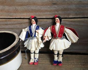 Vintage Dolls - Souvenir Dolls - Greek Dolls - European Dolls - Collectible Dolls