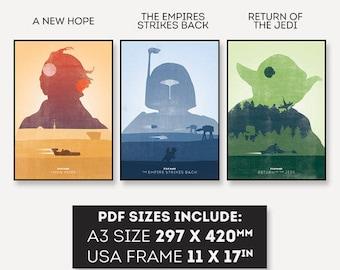 Star Wars Trilogy Poster PDF (Digital Download!)