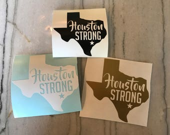 Houston Strong Decal hurrican harvey houston texas laptop sticker bumper sticker phone decal gold