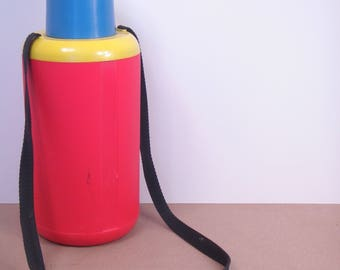 Vintage 1980s Era Crown Corning Thermique 1.5 L Insulated Thermos / Water Cooler / Canteen - Made in Italy