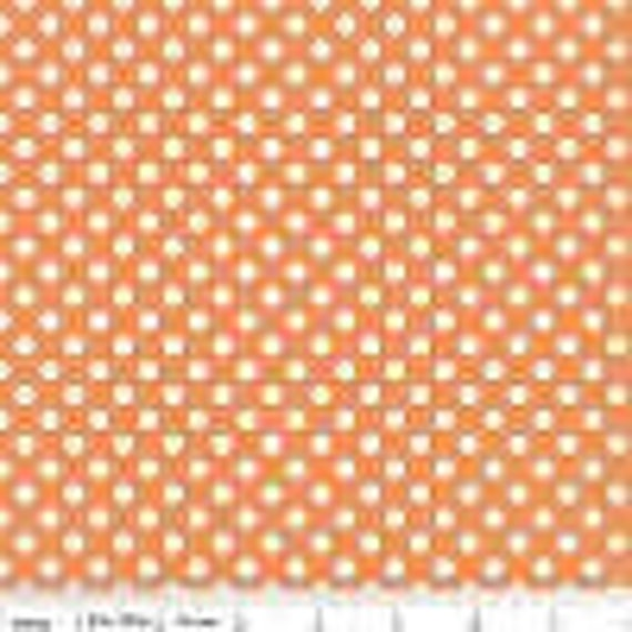 Riley Blake Basics Small Dot Orange 1 yard Remnant