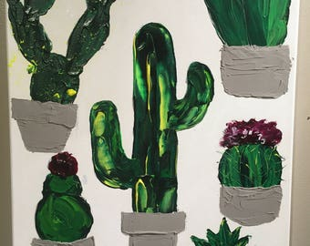 "Canvas 22 X 28 ""In life, there is a cactus"""