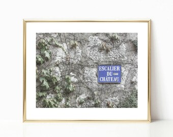 French Sign Decor Art // France Gallery Wall Prints // Europe Photography // Travel Decor // Apartment Art