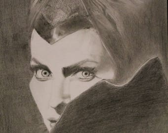 Maleficent, graphite drawing pencils