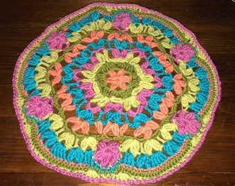 Crocheted Mandala Doily/center peice