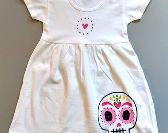 Sugar Skull Dress. Toddler Dress. Day of the Dead. Festive Dress.