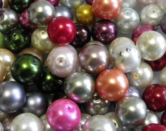 500 Pearl multicolored 8 mm pearl beads