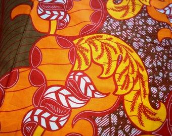 GTP Wax Print Fabric, Ghana Africa, by the half yard