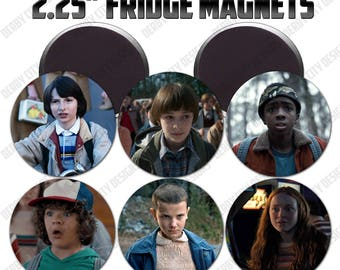 Set of 6 Stranger Things Hawkins Audio Video Club buttons