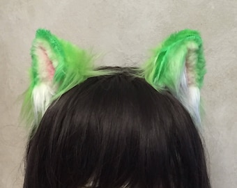 Green Kitten Ears