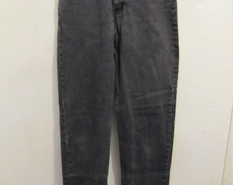 Women's Vintage 80's,Faded Black Hi Waist,TAPERED Leg Type Jeans By CALVIN KLEIN Sport.7M