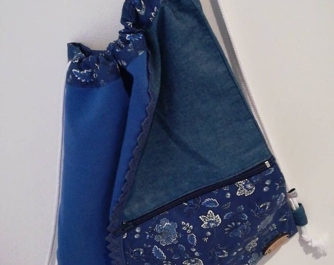 Ties bag, bags, woven backpack, bag, shoulder bag, backpack, multipurpose bag, cloth bag
