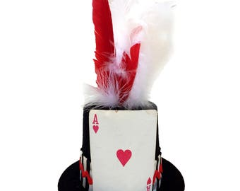 Ace of Hearts Tiny Top Hat