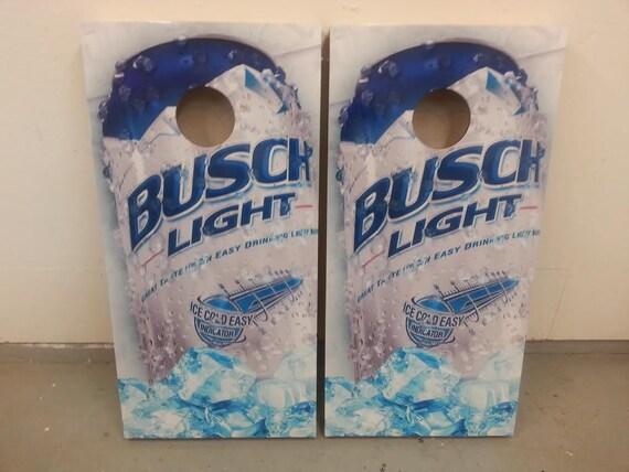 Busch Light Corn Hole Boards Bean Bag Toss Game