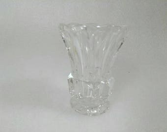 Vintage Tiny Clear Glass Knick Knack Vase