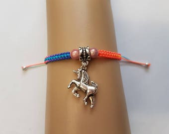 Rainbow unicorn bracelet - unicorn - unicorn charm - unicorn jewelry - unicorn jewellery - unicorn lover - rainbow bracelet - fantasy