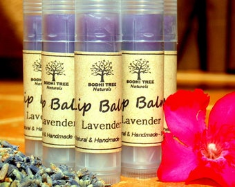 Chapped lips & Exfoliation/Lavender lip balm  - Clear color/Natural Handmade Skin Care