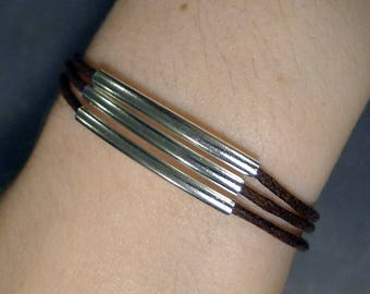 Bracelet tubes and Brown cord