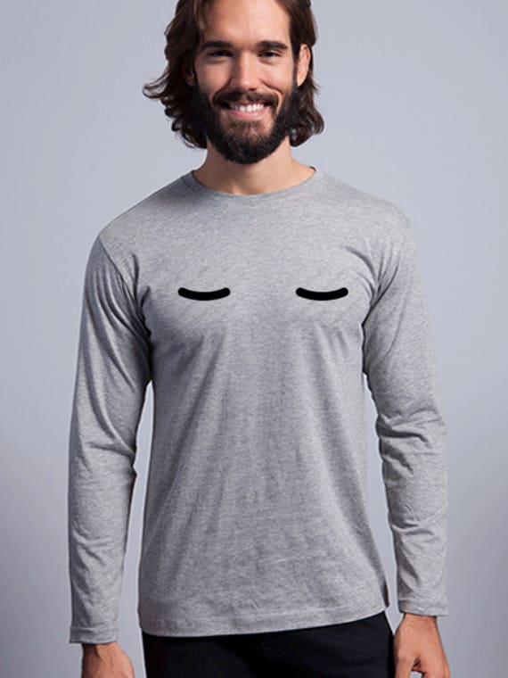 Round neck men long sleeve t-shirt SLEEPY EYES