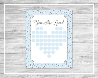 Blue and Silver Baby Shower Guest Book - Printable Baby Shower Guest Book - Blue and Silver Baby Shower - Baby Shower Guest Book - SP151