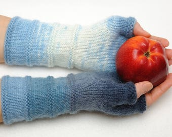 Coworker Gift Ideas Womens gift for her Fingerless Mittens Arm Warmers Wrist Warmers Hand warmers Warm gloves Winter Gloves fingerless mitts
