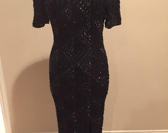 VTG Black Sequin Dress by Gopal