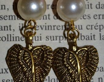 American Gold wings earrings