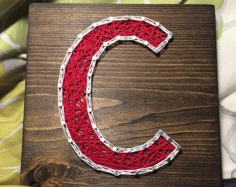 CUSTOM Itty Bitty Letter/Initial String Art, Nursery Art and Decor, birthday gift