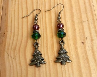"""Christmas earrings """"decorate the tree"""""""