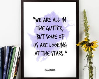 Oscar Wilde, Oscar Wilde Quote, Oscar Wilde Art, Watercolor Quote Poster, Watercolor Wall Art quote, Motivational quote, Inspirational quote