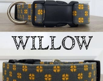 Willow - Yellow and Grey Collar