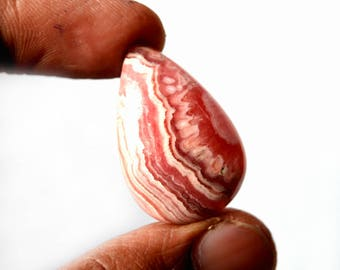 Natural Rhodochrosite 35.5 Cts Gemstone Loose Cabochon Pink Rhodochrosite Pear Shape 30x20x6 MM R13415