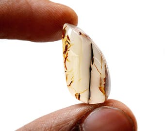 Montana Agate 15 Ct Free Form Shape beautiful Natural Gemstone Cabochon 24x12x7 MM R14597