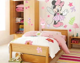 Minnie Mouse Wall Decals Etsy - Minnie mouse wall decals